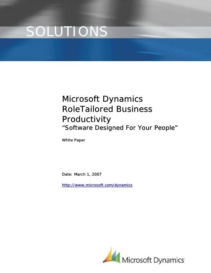 Microsoft Dynamics RoleTailored Business Productivity