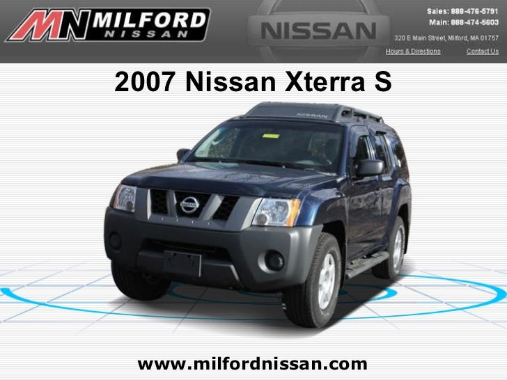 2007 Nissan Xterra S www.milfordnissan.com
