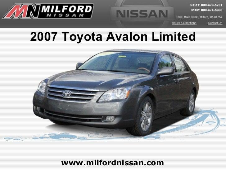 2007 Toyota Avalon Limited www.milfordnissan.com