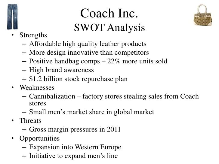 swot analysis for coach inc
