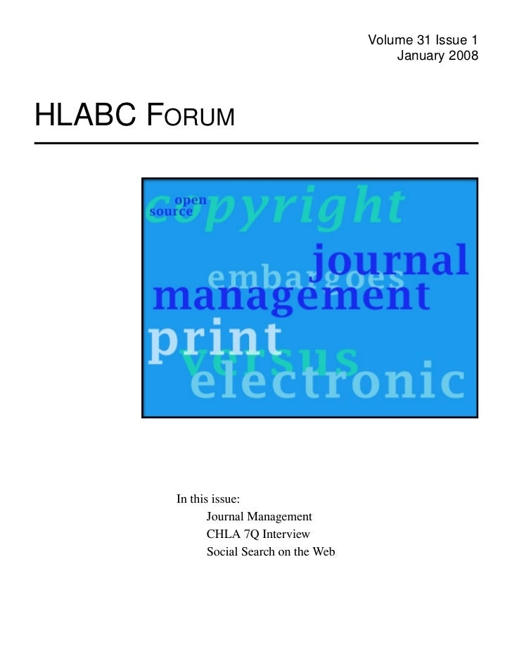 HLABC Forum: January 2008