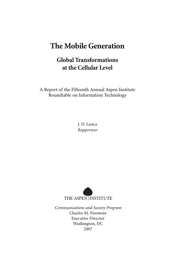 the mobile generation - global transformations at the cellular level
