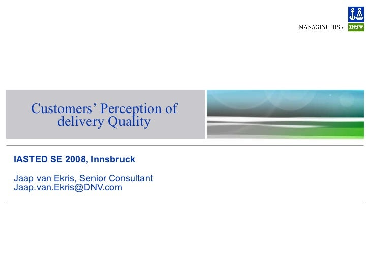 2008-02-14 - IASTED Innsbruck 2008 - Customer Retention and Delivery Quality in the IT industry
