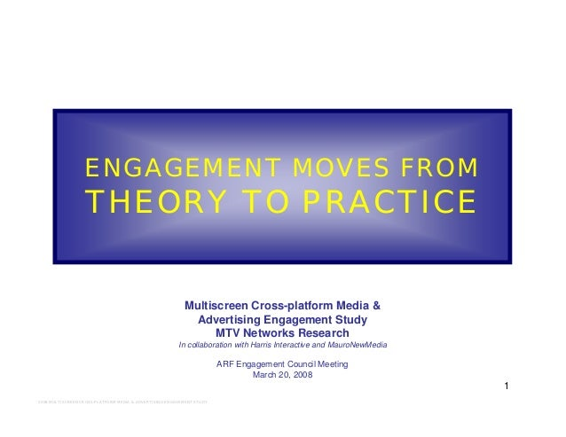 1 2008 MULTISCREEN CROSS-PLATFORM MEDIA & ADVERTISING ENGAGEMENT STUDY ENGAGEMENT MOVES FROM THEORY TO PRACTICE Multiscree...