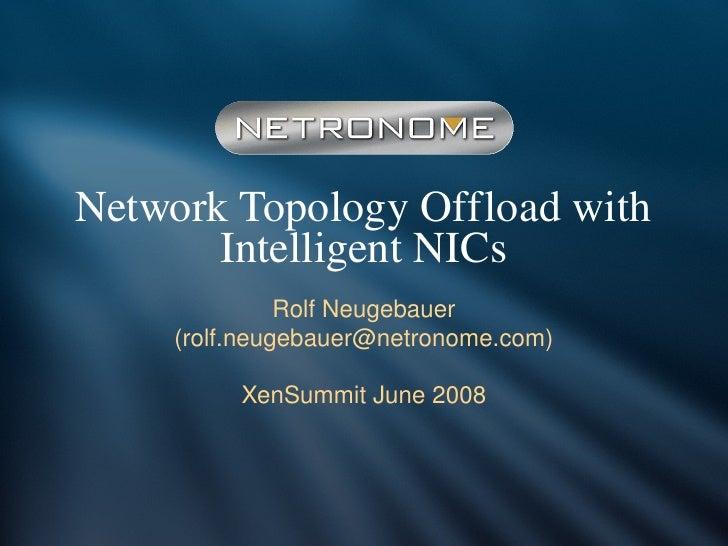 XS Boston 2008 Network Topology