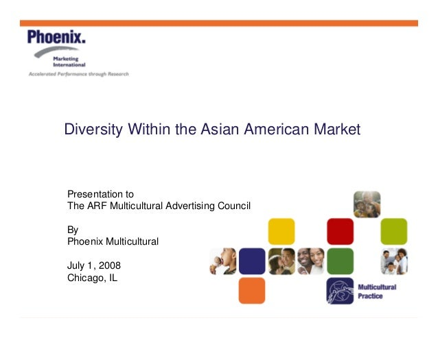 Diversity Within the Asian American Market Presentation to The ARF Multicultural Advertising Council By Phoenix Multicultu...