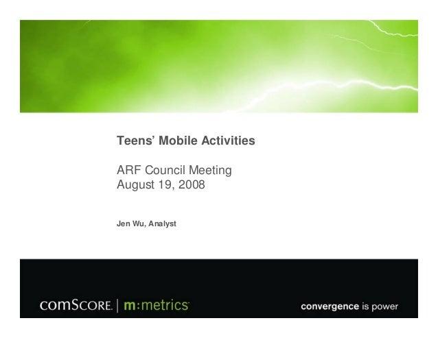 Teens' Mobile Activities