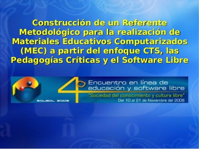 Construcción de un ReferenteConstrucción de un Referente Metodológico para la realización deMetodológico para la realizaci...