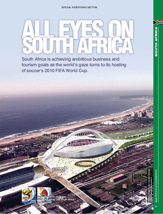 Stadiumimage/designcopyrightbelongstotheeThekwiniMunicipality©South Africa is achieving ambitious business andtourism goal...