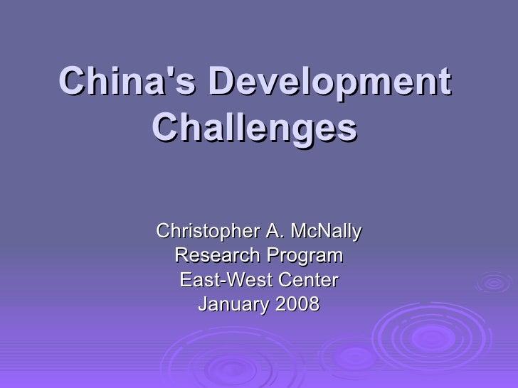 2008 Bangkok Chinas Dev Challenges Jan 22