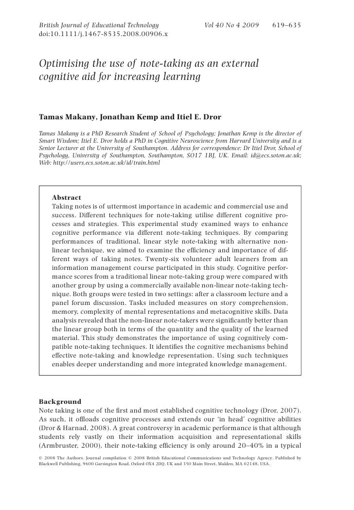 British Journal of Educational Technology                                Vol 40 No 4 2009              619–635 doi:10.1111...