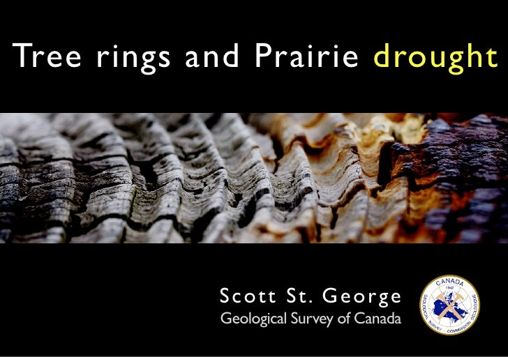 Tree rings and Prairie drought                 Scott St . George             Geological Survey of Canada