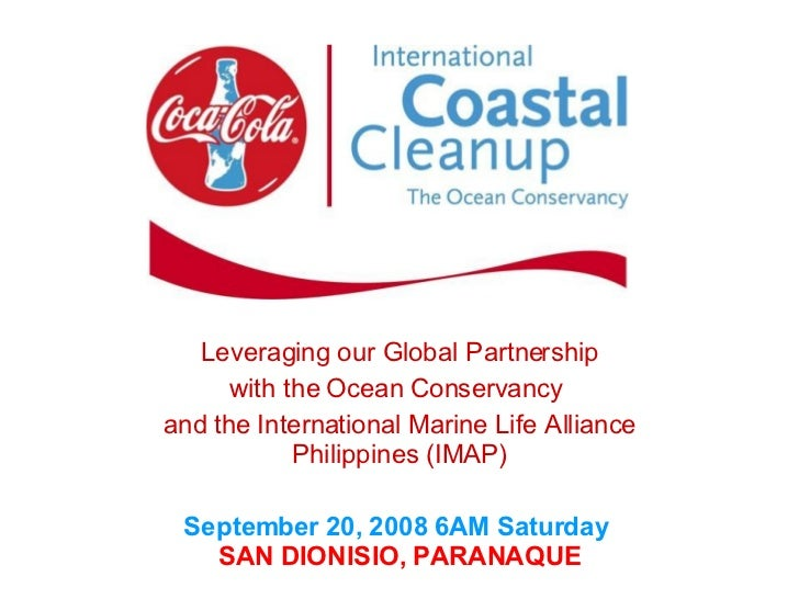 Leveraging our Global Partnership with the Ocean Conservancy  and the International Marine Life Alliance Philippines (IMAP...