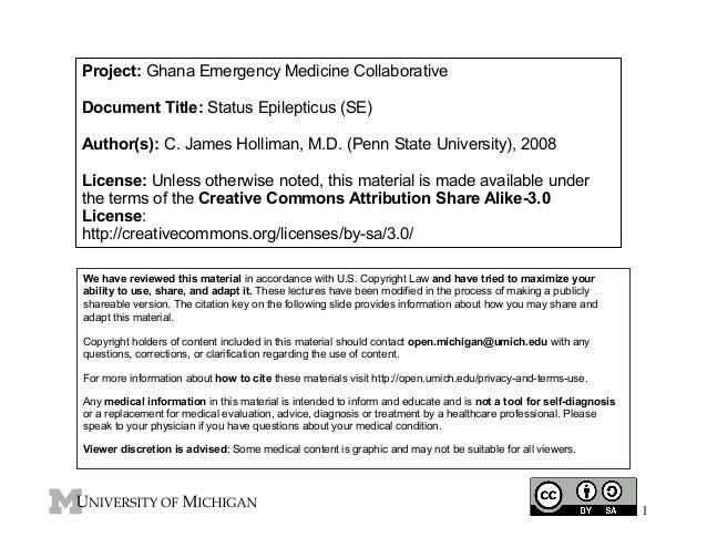 GEMC: Status Epilepticus (SE): Resident Training