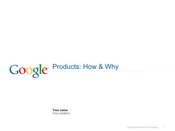 Google Products & Google Maps