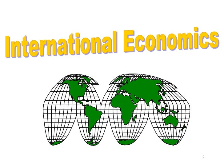 2008 H2 International Trade Lecture 1
