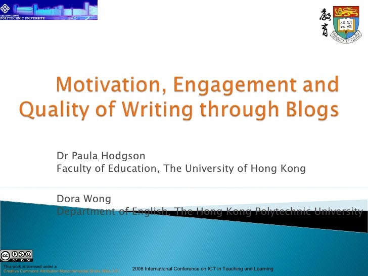 Dr Paula Hodgson Faculty of Education, The University of Hong Kong Dora Wong Department of English, The Hong Kong Polytech...