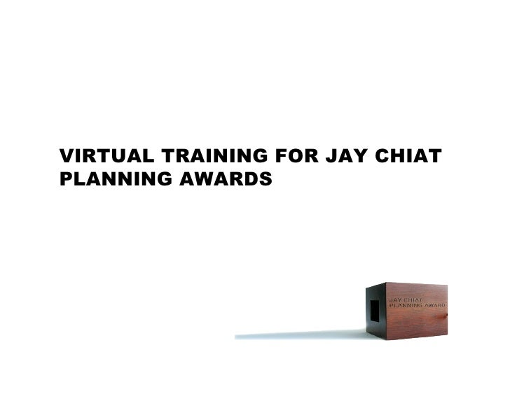 2008 JC Planning Awards Virtual Training