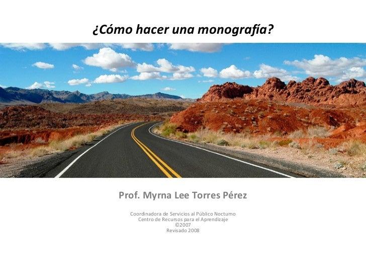 Redacción de Monografías - 2008