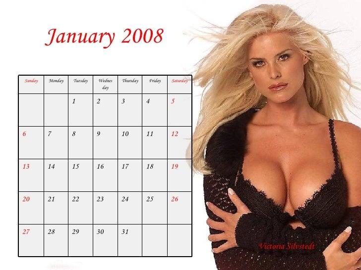 2008 Monthly Calendar Celebrites Feminines