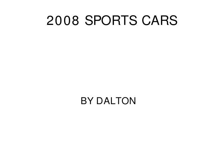 2008 Sports Cars