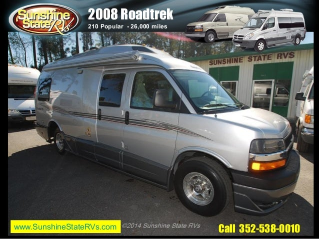 2008 Used Roadtrek 210 Popular Class B Motor Home Sunshine