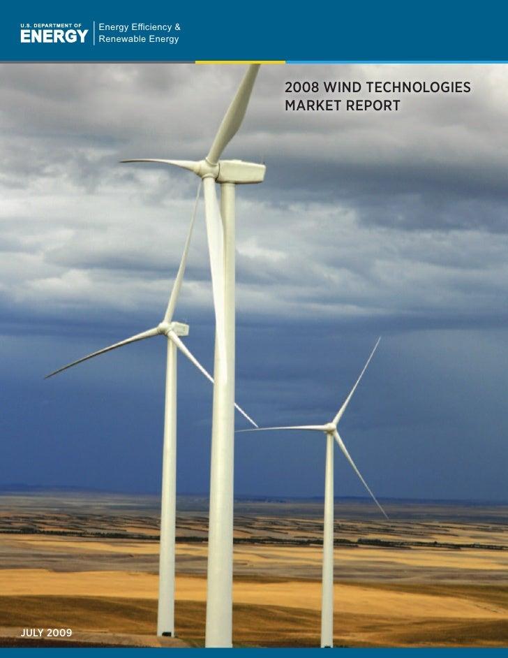 Energy Efficiency &             Renewable Energy                                       2008 WIND TECHNOLOGIES             ...