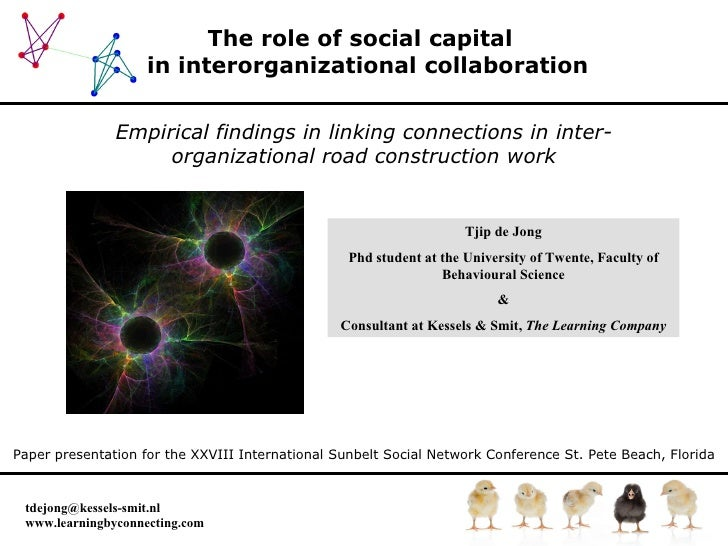 The role of social capital   in interorganizational collaboration Empirical findings in linking connections in inter-organ...