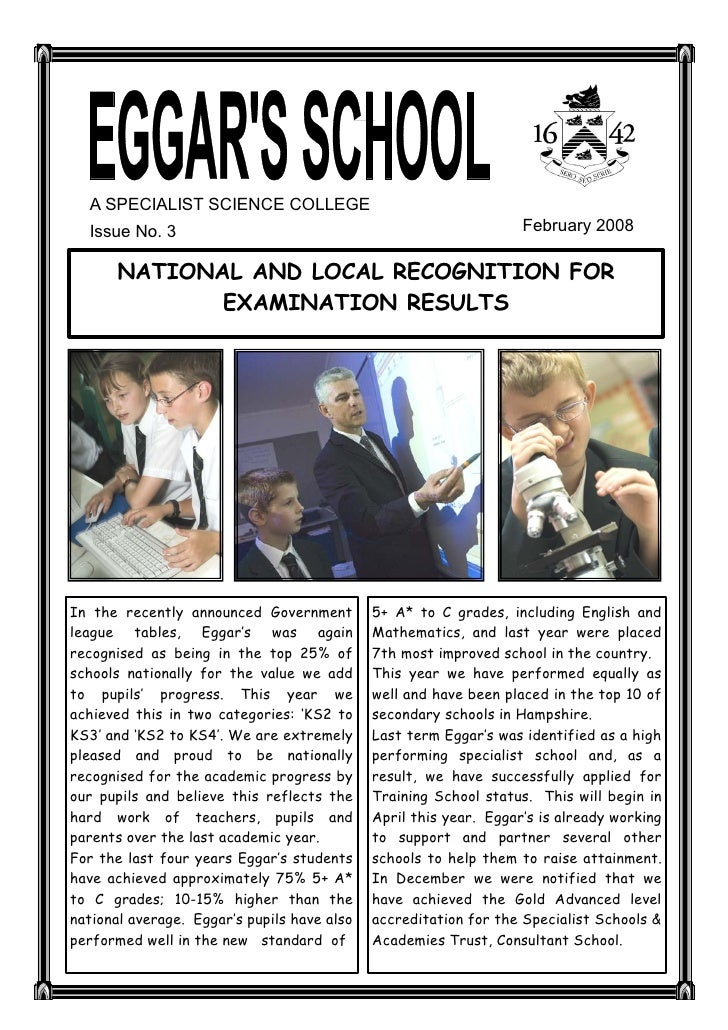 A SPECIALIST SCIENCE COLLEGE    Issue No. 3                                                      February 2008          NA...