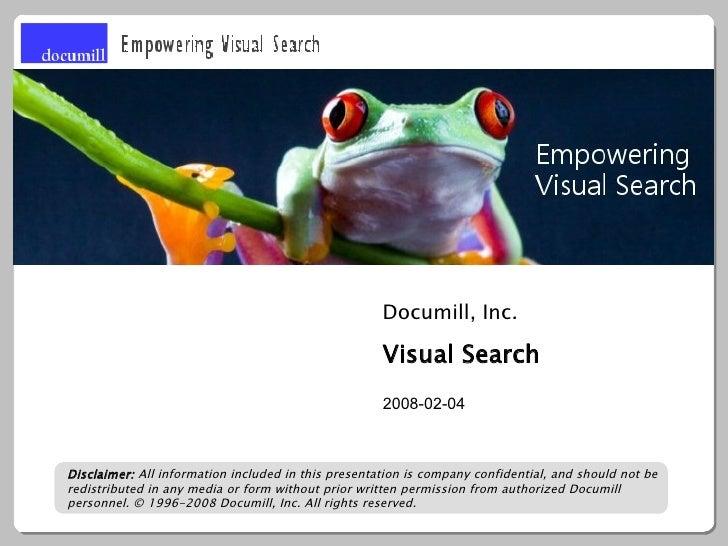 Documill, Inc.                                                       Visual Search                                        ...
