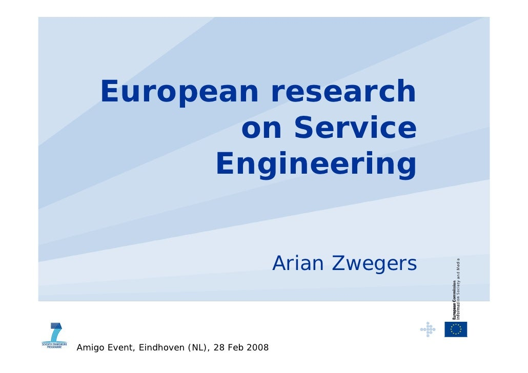 European research            on Service           Engineering                                              Arian Zwegers  ...