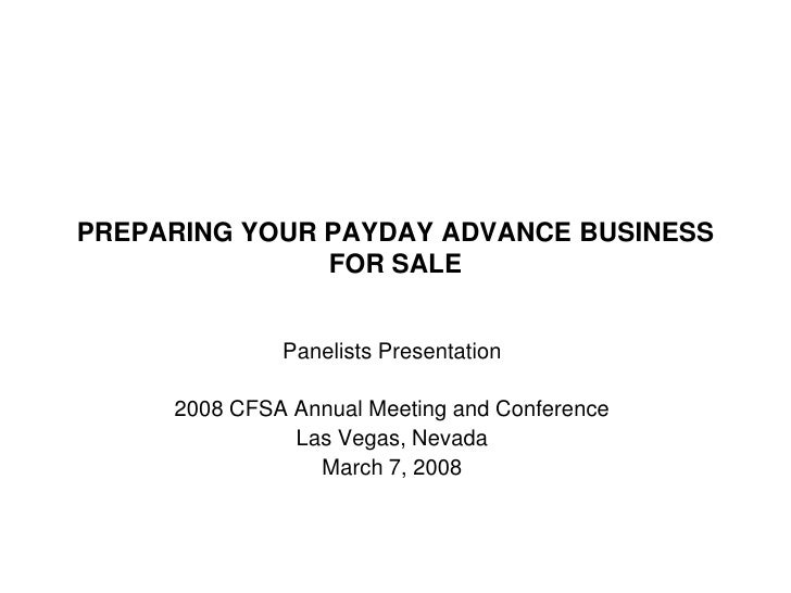 Preparing Your Payday Advance Business for Sale