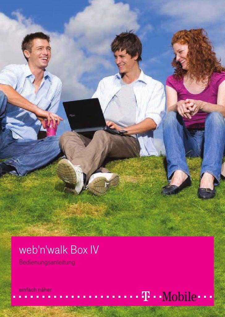 web'n'walk Box IV Bedienungsanleitung   einfach näher