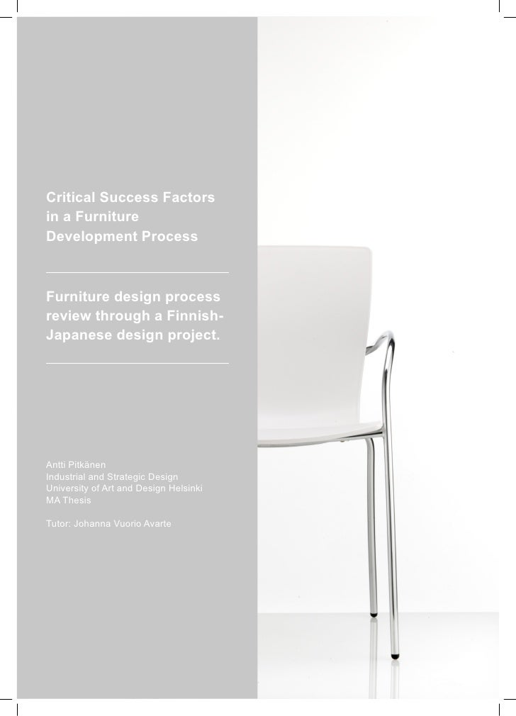 Critical Success Factors in a Furniture Development Process    Furniture design process review through a Finnish- Japanese...