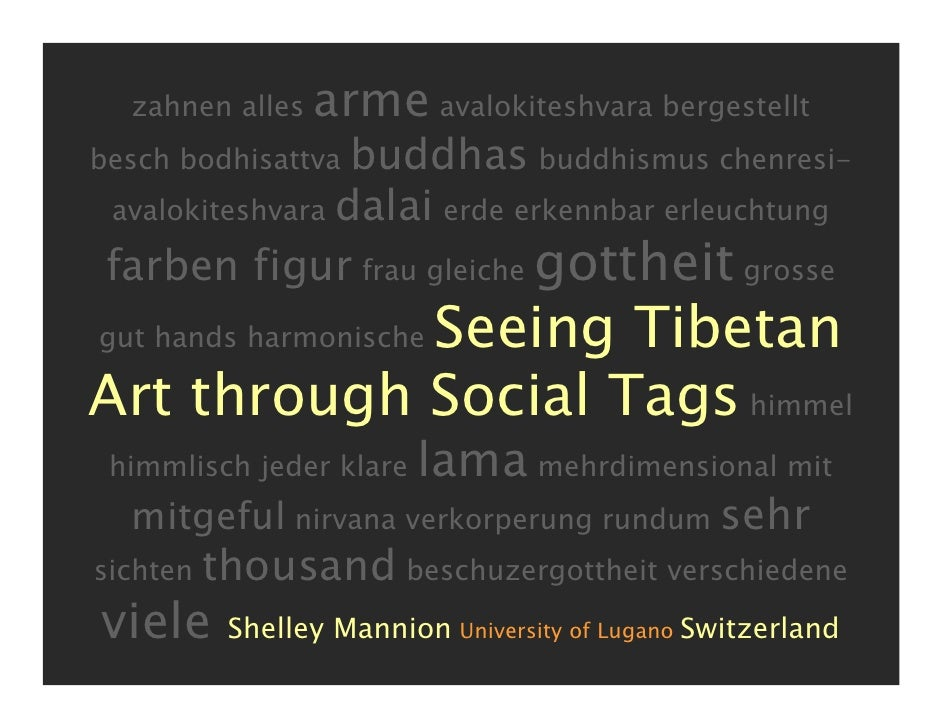 Seeing Tibetan Art through Social Tags