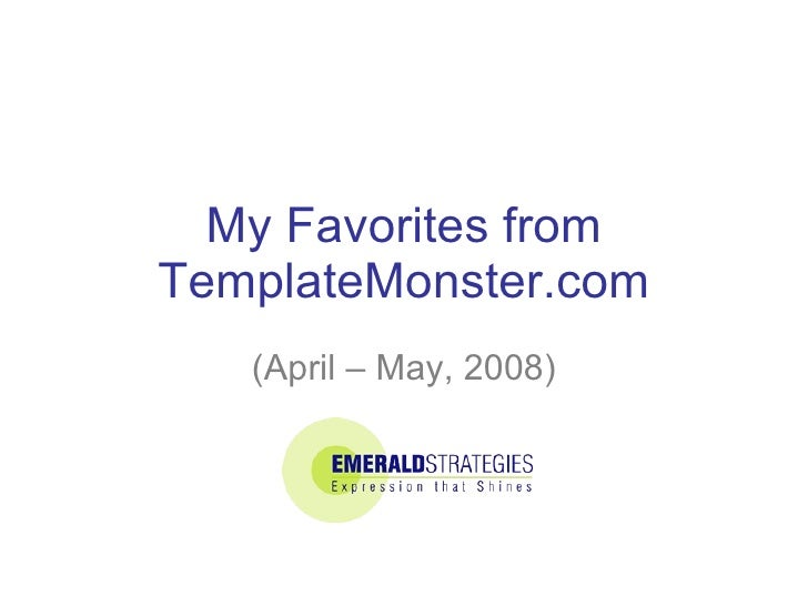 My Favorites from TemplateMonster.com (April – May, 2008)