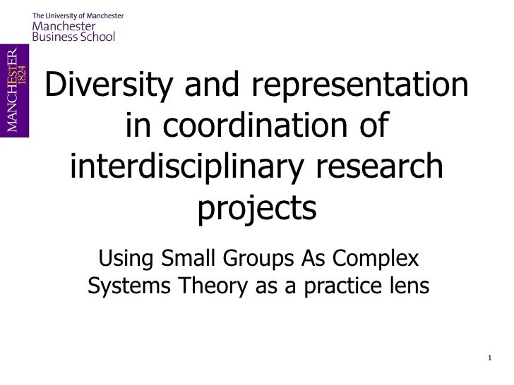 Diversity and representation in coordination of interdisciplinary research projects Using Small Groups As Complex Systems ...