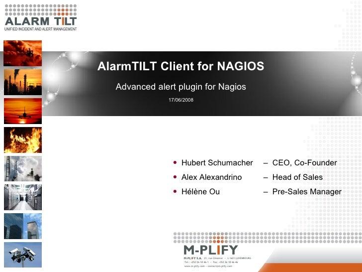                          AlarmTILT Client for NAGIOS                            Advanced alert plu...