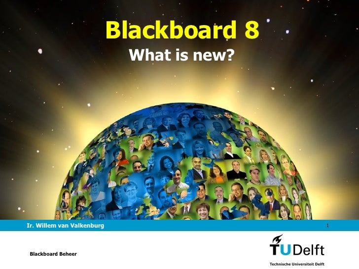 Presentatie Blackboard 8 voor docenten TU Delft