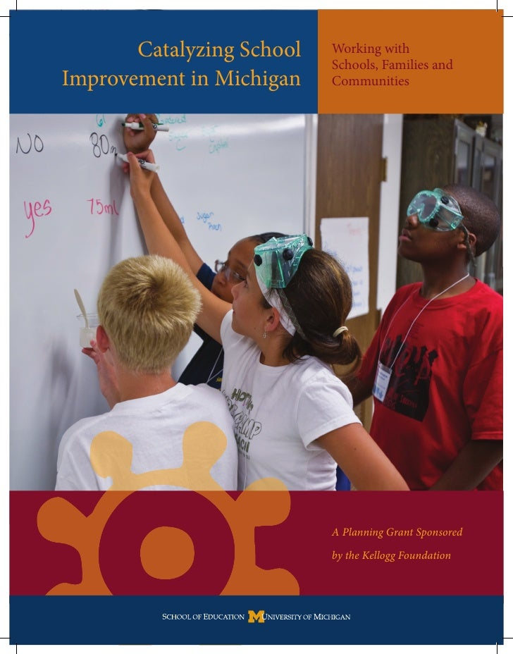 Catalyzing School   Working with                            Schools, Families and Improvement in Michigan    Communities  ...