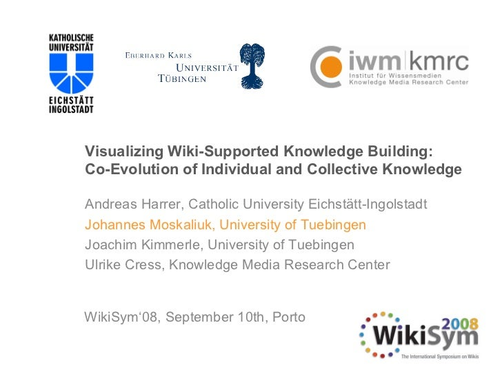 Visualizing Wiki-Supported Knowledge Building:  Co-Evolution of Individual and Collective Knowledge Andreas Harrer,  Catho...