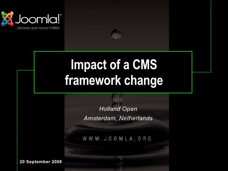 Impact Of A Cms Framework Change - Holland Open Netherlands