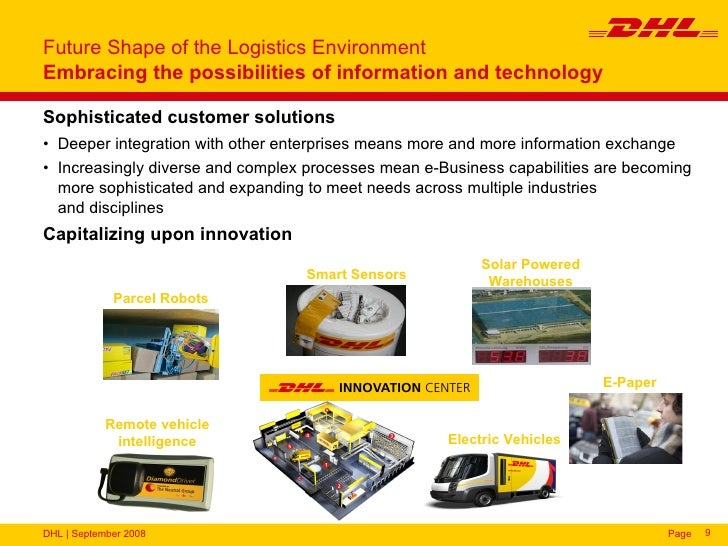 dhl logistics company information Dhl is part of the world's leading postal and logistics company deutsche post  dhl group, and encompasses the business units dhl express, dhl parcel,  dhl.