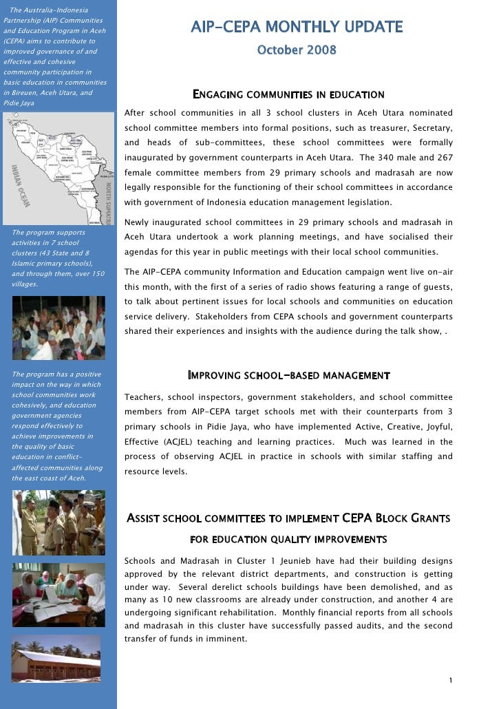 The Australia-Indonesia Partnership (AIP) Communities and Education Program in Aceh (CEPA) aims to contribute to improved ...