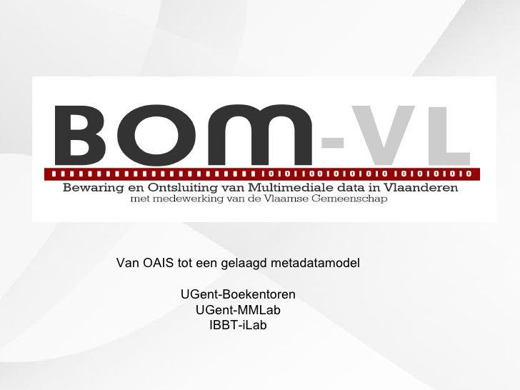 Van OAIS tot een gelaagd metadatamodel UGent-Boekentoren UGent-MMLab IBBT-iLab