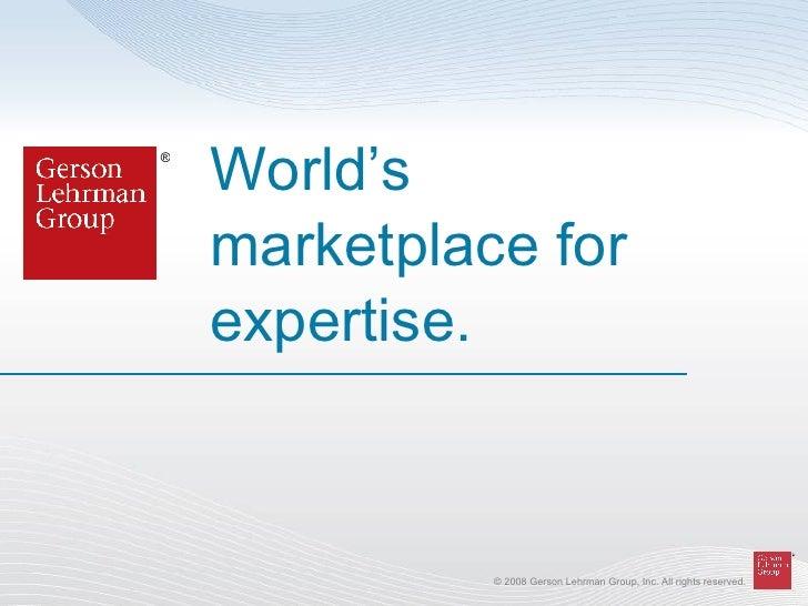 World's marketplace for expertise. ®
