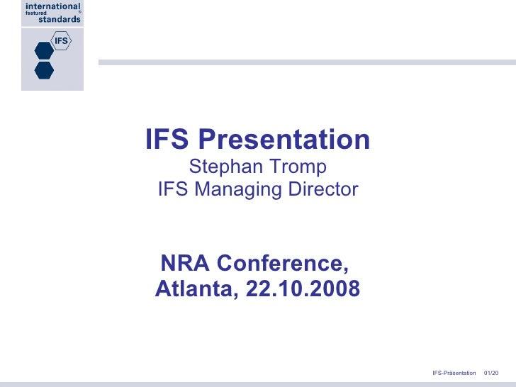 International Featured Standards Presentation