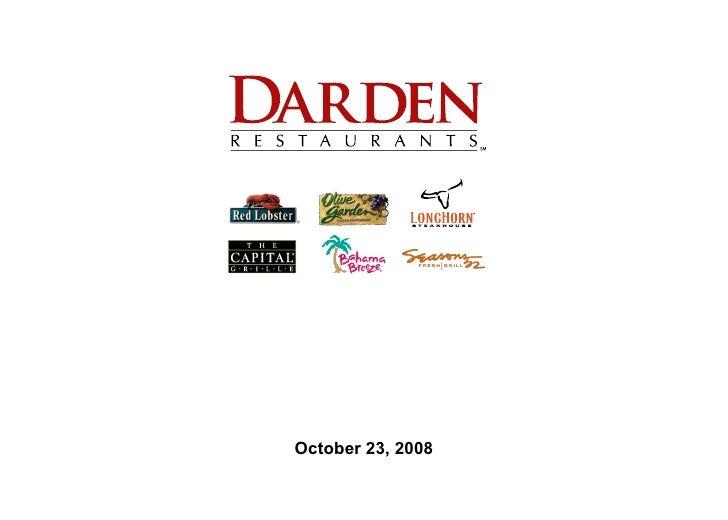Darden Restaurants Presentation