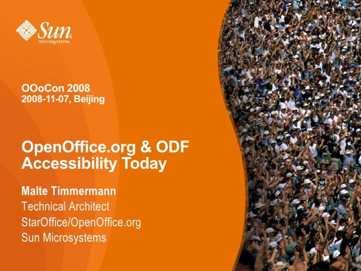 OpenOffice.org and ODF Accessibility Today (OOoCon 2008 Bejing)