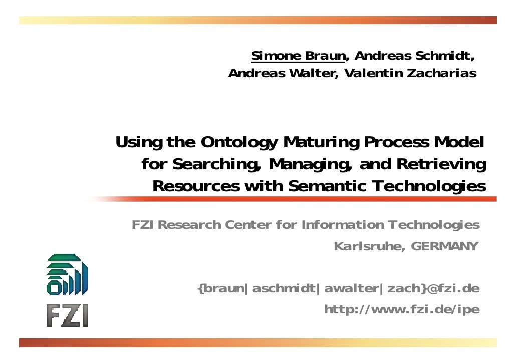 Ontology Maturing for Searching, Managing, and Retrieving Resources
